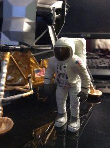Plastic figurine of Apollo astronaut