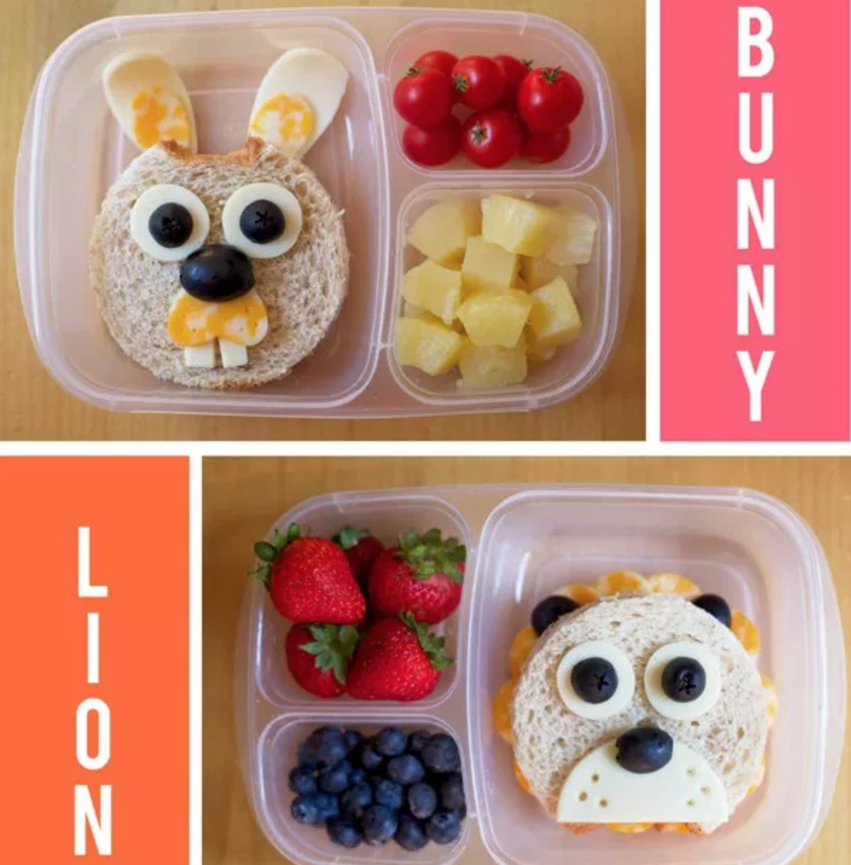 Lunches made to look like animals