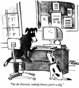 Dogs online anonymity
