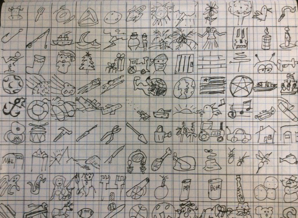 Stream of consciousness sketches